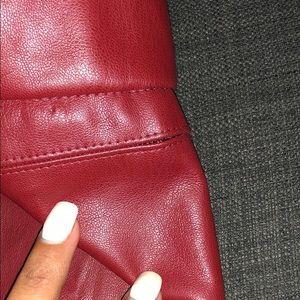 Zara Pants - NWT red leather Zara leggings